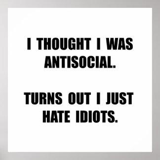 Antisocial Idiots Poster