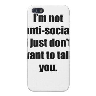 Antisocial iPhone 5 Carcasa