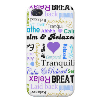 AntiStress Calm Relaxing Typography iphone 4 case