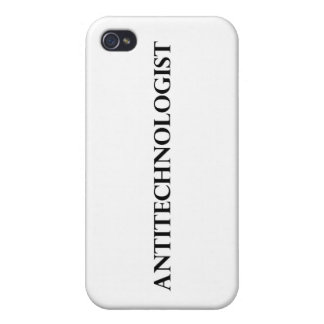 Antitechnologist iPhone 4/4S Covers