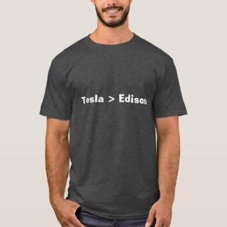 Antitheist Atheist  Tesla > Edison. T-Shirt