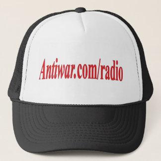 Antiwar dot com radio trucker hat