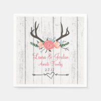 Antler Baby Shower Napkins