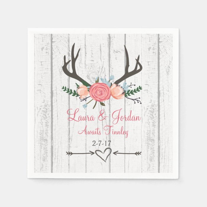 antler baby shower napkins zazzle