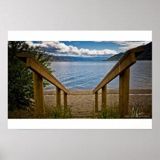 Antler Beach on Okanagan Lake, BC Art Print