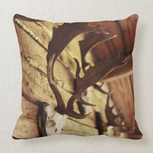 Antler Throw Pillow : Antler Collection Throw Pillow Zazzle