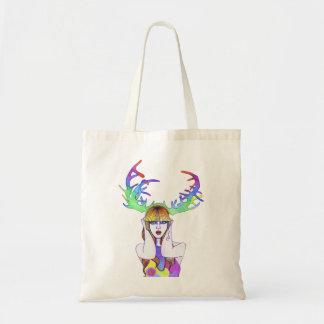 Antler Girl Tote Bag