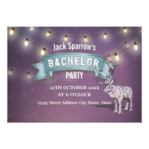 Antler Hunting Bachelor / Bachelorette Stag Party Card