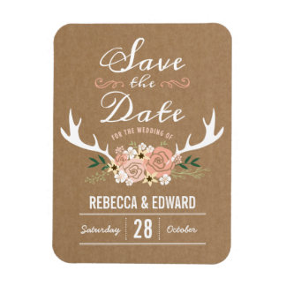 Antler Save the Date Magnet