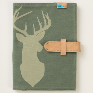 Antlered Buck Silhouette Etched Natural Design Journal