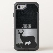 Antlered Deer in Grass Custom Name Case