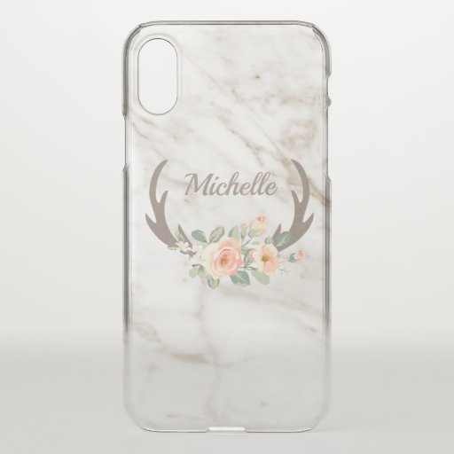 Antlers And Flowers iPhone X Case