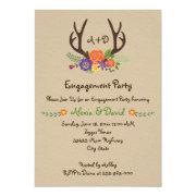 Antlers floral monogram wedding engagement party 5