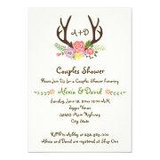 Antlers & flowers monogram wedding couples shower 5