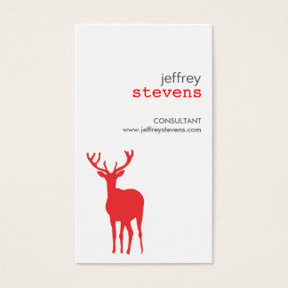 ANTLERS in RED Business Card