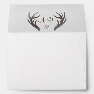 Antlers Monogram Wedding Envelope