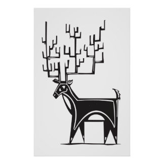Reindeer Caribou Posters | Zazzle