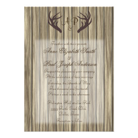 Antler Wedding Invitations Country Wedding Invitations