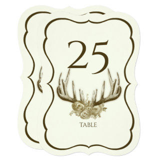 Antlers Scallop Table Number