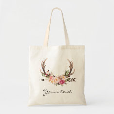 Antlers Tote Bag at Zazzle
