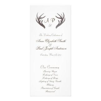 Antlers Wedding Program
