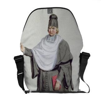 Antoine Arnauld (1612-94) from 'Receuil des Estamp Messenger Bag
