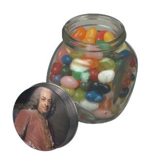 Antoine Gaspard de la Reyniere by Maurice La Tour Glass Jar