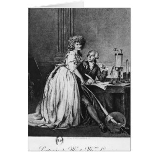 Antoine Laurent Lavoisier  and his wife Cards