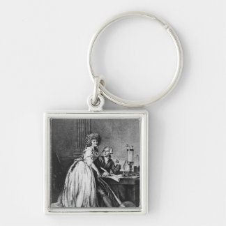 Antoine Laurent Lavoisier  and his wife Keychain