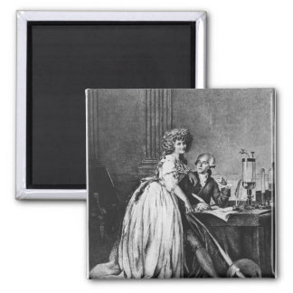 Antoine Laurent Lavoisier  and his wife Magnet