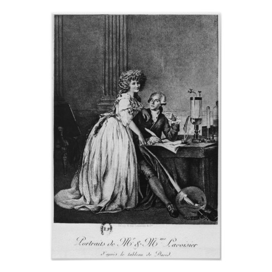 Antoine Laurent Lavoisier  and his wife Poster
