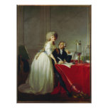 Antoine-Laurent Lavoisier and Wife Poster