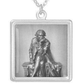 Antoine Laurent Lavoisier Square Pendant Necklace