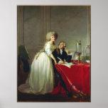 Antoine-Laurent Lavoisier y esposa Póster