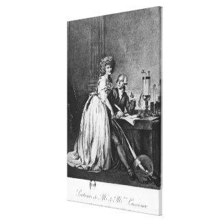 Antoine Laurent Lavoisier y su esposa Impresiones En Lona Estiradas