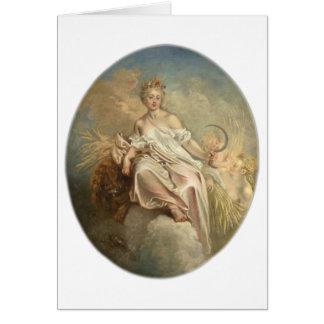 Antoine Watteau Ceres (Summer) c1717-1718 Card