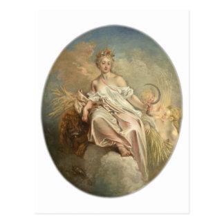 Antoine Watteau Ceres (Summer) c1717-1718 Postcard
