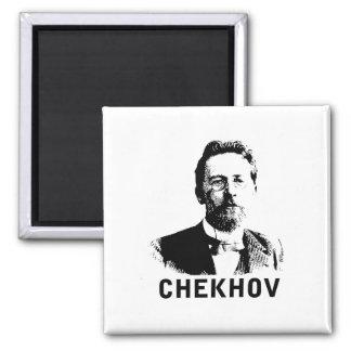Anton Chekhov 2 Inch Square Magnet