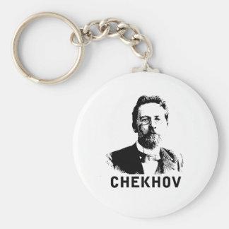 Antón Chekhov Llavero Redondo Tipo Pin