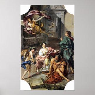 Anton Raphael Mengs - alegoría de la historia Póster