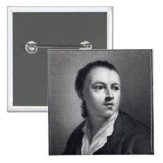 Anton Raphael Mengs, engraved by Nicolaus Mosman Pinback Button