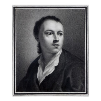 Anton Raphael Mengs, engraved by Nicolaus Mosman Poster