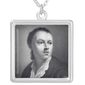 Anton Raphael Mengs, engraved by Nicolaus Mosman Silver Plated Necklace