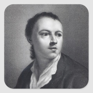 Anton Raphael Mengs, engraved by Nicolaus Mosman Square Sticker