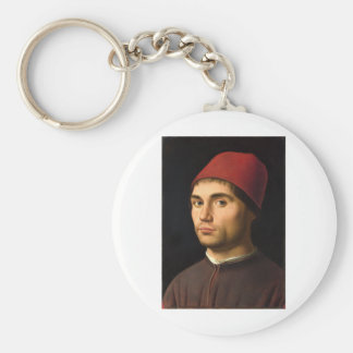 Antonello da Messina - Portrait of a Man Keychain