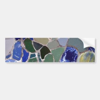 Antoni Gaudi Blue Mosaics Bumper Sticker