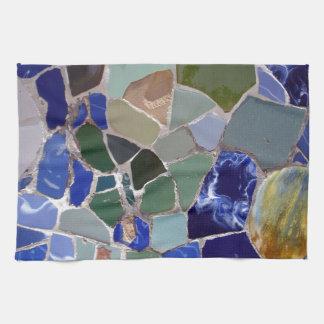Antoni Gaudi Blue Mosaics Hand Towel