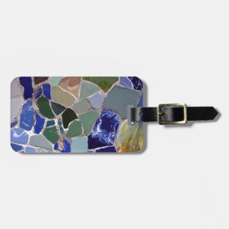 Antoni Gaudi Blue Mosaics Luggage Tag