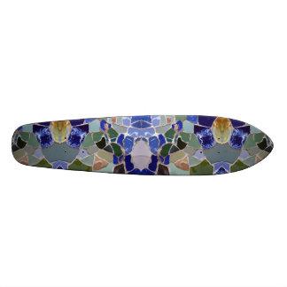Antoni Gaudi Blue Mosaics Skateboard Deck