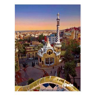 Antoni Gaudi's Park Güell Postcard